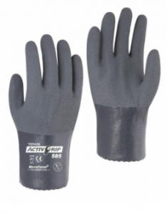 Nitrile Coated  Oil Resistant Gloves