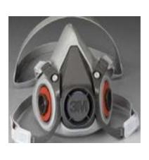 3M 6000 Series Half Facepiece Repirator-3M6100-6200-6300